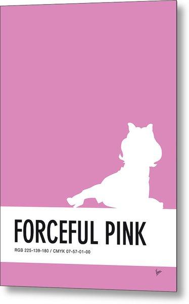 No26 My Minimal Color Code Poster Piggy  Metal Print