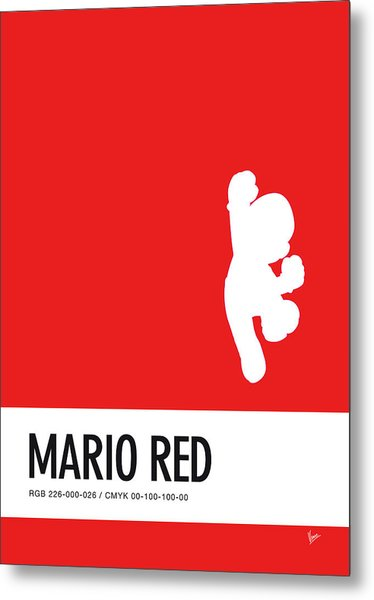 No33 My Minimal Color Code Poster Mario Metal Print