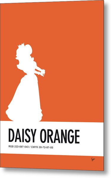 No35 My Minimal Color Code Poster Princess Daisy Metal Print