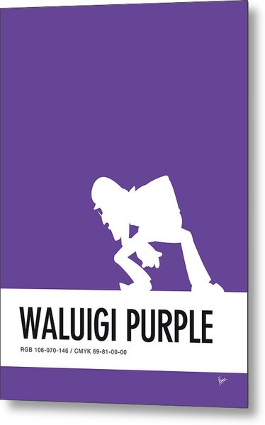 No42 My Minimal Color Code Poster Waluigi Metal Print