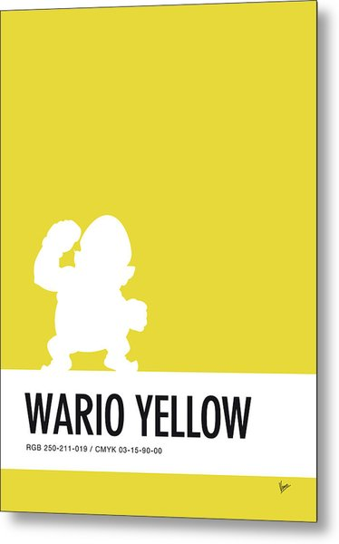 No43 My Minimal Color Code Poster Wario Metal Print