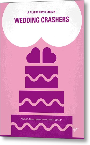 No437 My Wedding Crashers Minimal Movie Poster Metal Print