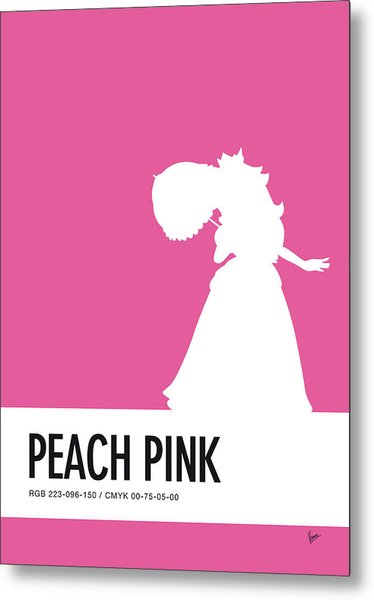 No44 My Minimal Color Code Poster Peach Metal Print