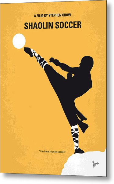 No480 My Shaolin Soccer Minimal Movie Poster Metal Print