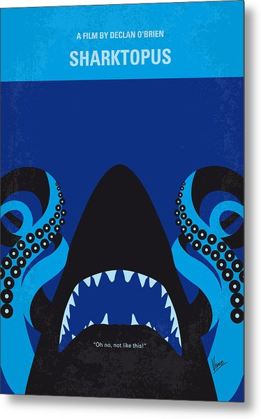 No485 My Sharktopus Minimal Movie Poster Metal Print