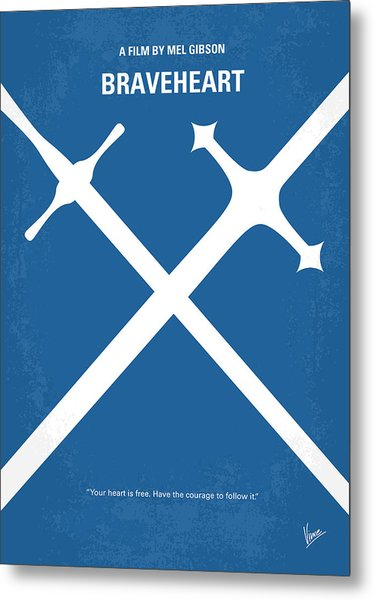 No507 My Braveheart Minimal Movie Poster Metal Print