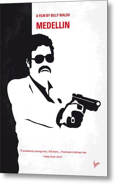 No526 My Medellin Minimal Movie Poster Metal Print