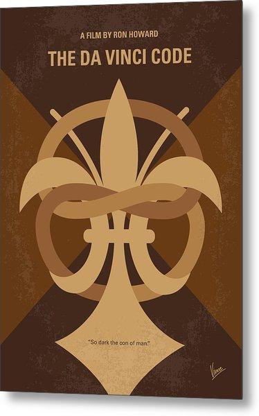 No548 My Da Vinci Code Minimal Movie Poster Metal Print