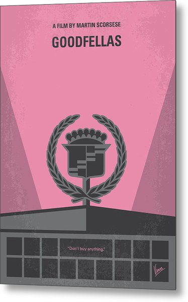 No549 My Goodfellas Minimal Movie Poster Metal Print