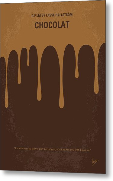 No567 My Chocolat Minimal Movie Poster Metal Print