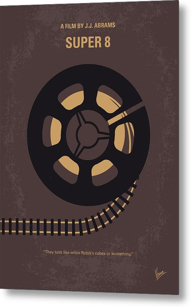 No578 My Super 8 Minimal Movie Poster Metal Print
