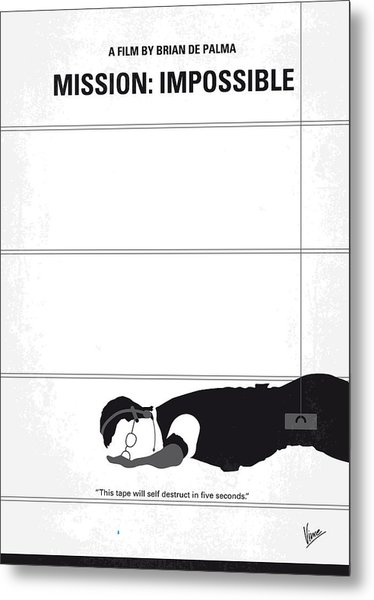 No583 My Mission Impossible Minimal Movie Poster Metal Print