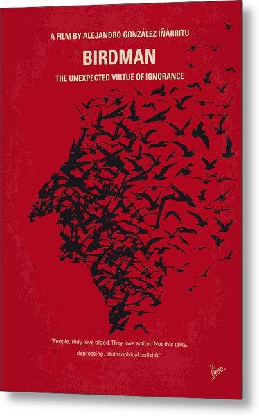 No604 My Birdman Minimal Movie Poster Metal Print