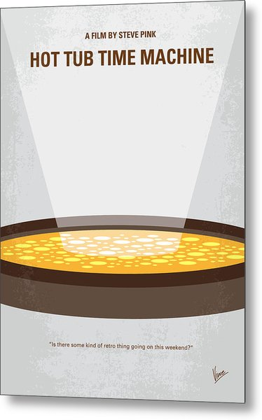 No612 My Hot Tub Time Machine Minimal Movie Poster Metal Print