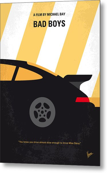No627 My Bad Boys Minimal Movie Poster Metal Print