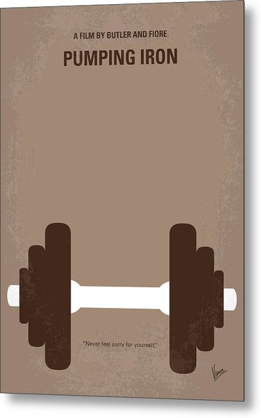 No707 My Pumping Iron Minimal Movie Poster Metal Print