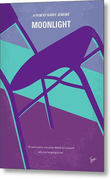 No757 My Moonlight Minimal Movie Poster Metal Print