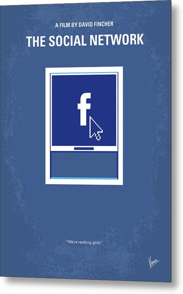 No779 My The Social Network Minimal Movie Poster Metal Print