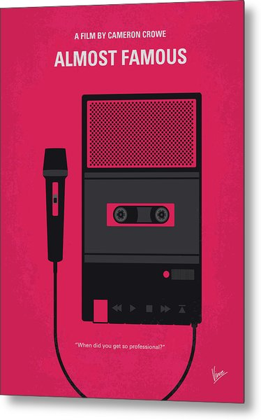 No781 My Almost Famous Minimal Movie Poster Metal Print