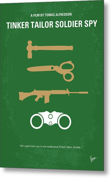No787 My Tinker Tailor Soldier Spy Minimal Movie Poster Metal Print