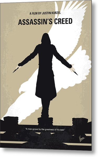 No798 My Assassins Creed Minimal Movie Poster Metal Print
