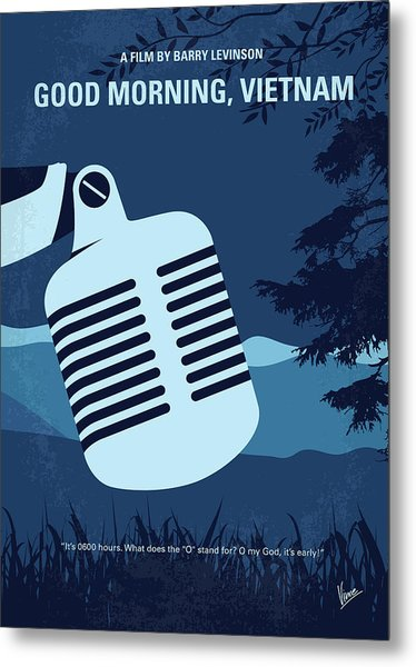 No811 My Good Morning Vietnam Minimal Movie Poster Metal Print