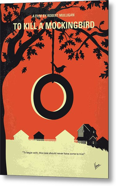 No844 My To Kill A Mockingbird Minimal Movie Poster Metal Print
