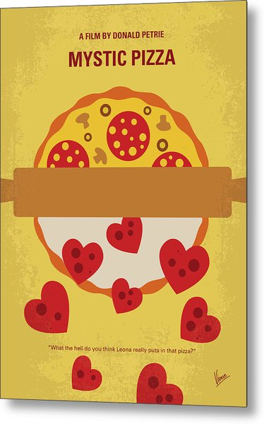 No846 My Mystic Pizza Minimal Movie Poster Metal Print
