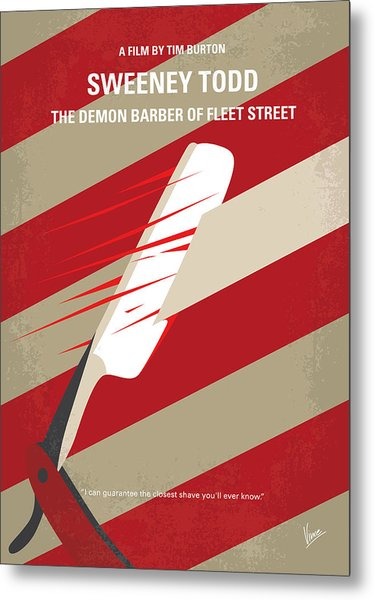 No849 My Sweeney Todd Minimal Movie Poster Metal Print