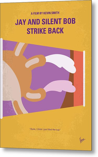 No889 My Jay And Silent Bob Strike Back Minimal Movie Poster Metal Print