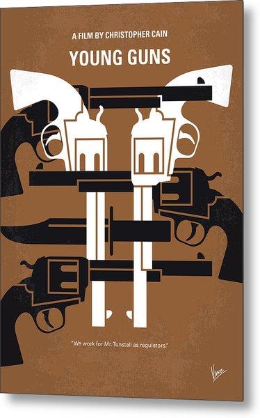 No916 My Young Guns Minimal Movie Poster Metal Print