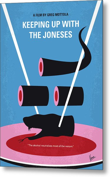 No922 My Keeping Up With The Joneses Minimal Movie Poster Metal Print