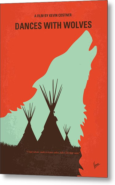 No949 My Dances With Wolves Minimal Movie Poster Metal Print