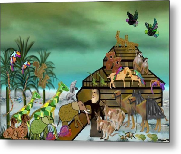 Noah's Ark Metal Print by Sher Magins