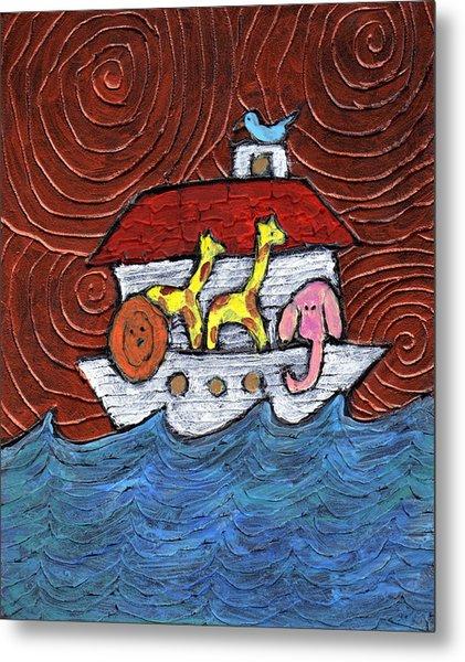 Noahs Ark With Blue Bird Metal Print