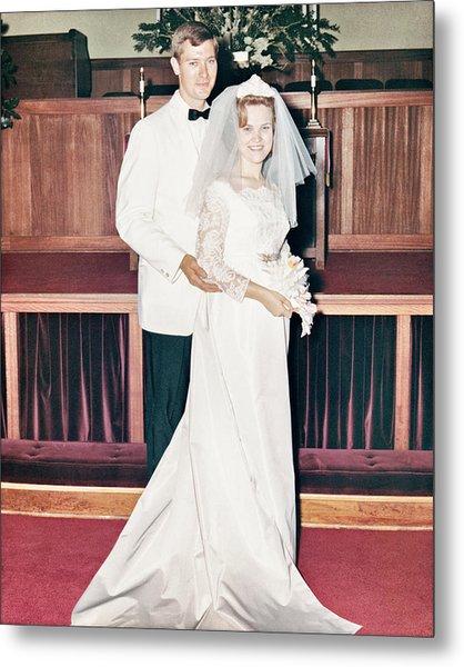 Nobel And Vernice Wedding Formal Portrai Metal Print