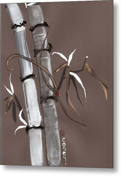 Noble Snow Spirit Like Bamboo Metal Print