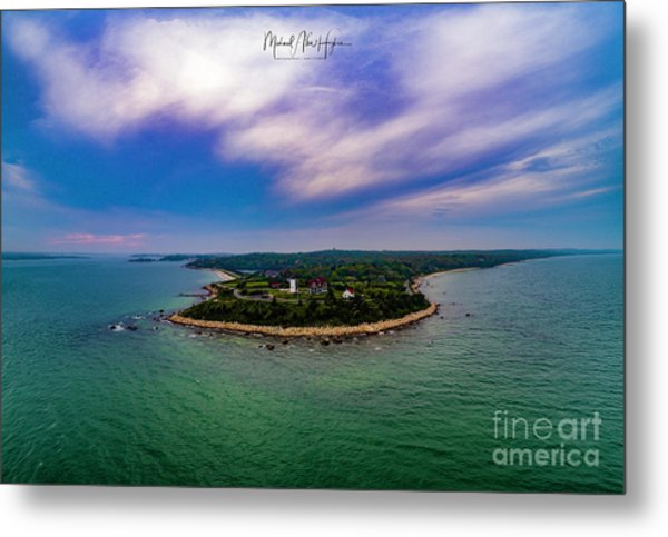 Nobska Lighthouse Panorama Metal Print