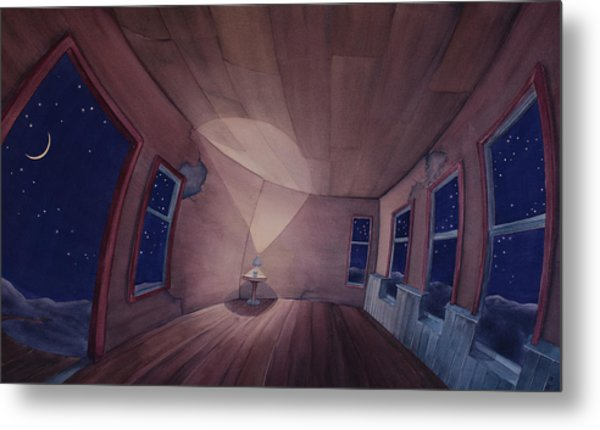 Nocturnal Interior Metal Print