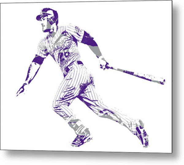Nolan Arenado Colorado Rockies Pixel Art 12 Metal Print