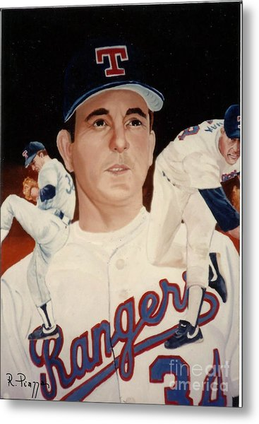 Metal Print featuring the painting Nolan Ryan Medley by Rosario Piazza