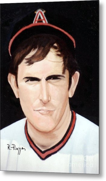 Nolan Ryan With The Angels Metal Print