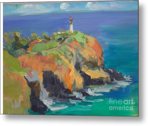 Noon Lighthouse Metal Print by Cynthia Riedel