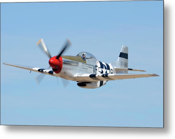 North American P-51d Mustang Nl5441v Spam Can Valle Arizona June 25 2011 1 Metal Print