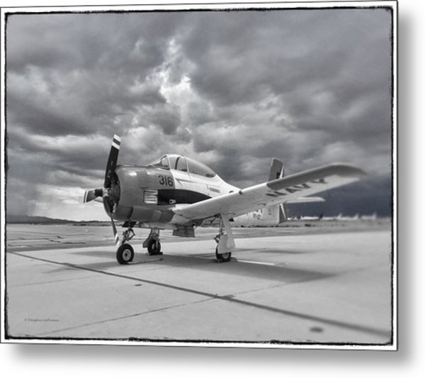 North American T-28 Metal Print