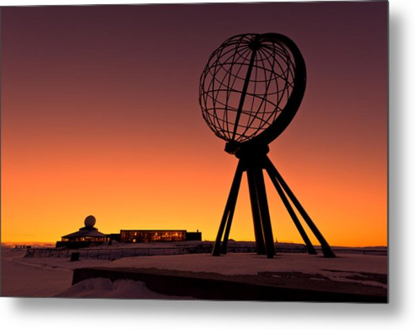 North Cape Norway At The Northernmost Point Of Europe Metal Print