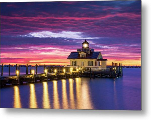 North Carolina Outer Banks Lighthouse Manteo Obx Nc Metal Print