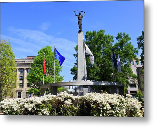 North Carolina Veterans Monument Metal Print