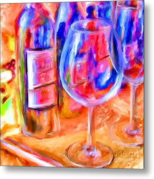 North Carolina Wine Metal Print