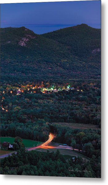 North Conway Dusk 6888 Metal Print